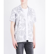 Levi's Tropical Print Chambray Shirt White