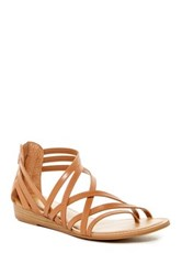Carlos By Carlos Santana Amara Strappy Wedge Sandal Brown