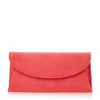 Untold Beray Fold Over Clutch Bag Coral
