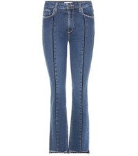 Paige Julia High Rise Straight Jeans Blue