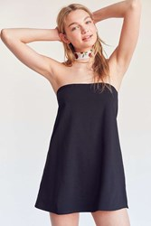 Silence And Noise Two Layer Ponte Strapless Romper Black