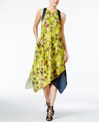 Rachel Roy Floral Print Scarf Dress Only At Macy's Gold Combo