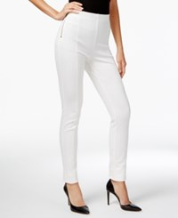 Inc International Concepts High Waist Pull On Skinny Pants Only At Macy's Washed White