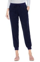 Vince Camuto Women's Two By Twill Jogger Pants Black Iris
