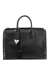 Calvin Klein 205W39nyc Whipstitched Leather Tote Black