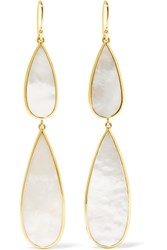 Ippolita Rock Candy 18 Karat Gold Mother Of Pearl Earrings One Size