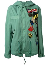 Mr And Mrs Italy Patch Detail Military Jacket Green