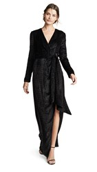 Brandon Maxwell Wrap Gown With Sleeves Black