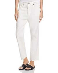 Vince 1961 Union Slouch Jeans In White White Denim