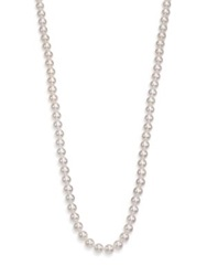 Mikimoto Basic 7Mm 7.5Mm White Cultured Akoya Pearl And 18K White Gold Strand Necklace 40