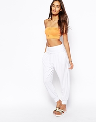 Asos Harem Pants In Jersey White