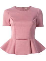 P.A.R.O.S.H. Structured Peplum Top Pink And Purple