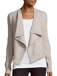 Cashmere Saks Fifth Avenue Open Front Cardigan Ivory