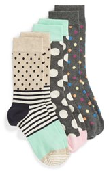 Happy Socks 3 Pack Dot Crew Asst