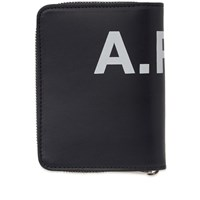 A.P.C. Emmanuel Large Logo Zip Wallet Blue