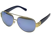 Michael Kors Tabitha Ii Polarized Gold Blue Glitter Blue Mirror Polarized Polarized Fashion Sunglasses