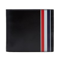 Thom Browne Printed Stripe Billfold Wallet Black