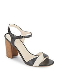 Cole Haan Florena Colorblock Leather Sandals Black