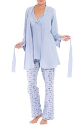 Olian 'Anne' Maternity Pajamas And Robe With Coordinating Pillowcase