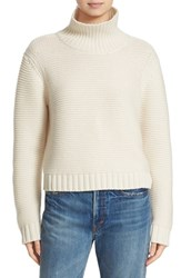 Vince Women's Wool And Cashmere Cowl Neck Sweater Winter White