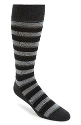 Calibrate Men's 'Mixed Stripe' Socks Charcoal Heather