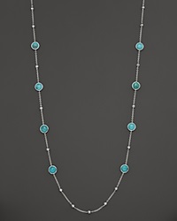 Ippolita Sterling Silver Rock Candy Mini Lollipop And Ball Necklace In Turquoise 37 No Color