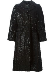 Marc Jacobs Sequin Coat Black