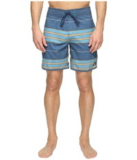 The North Face Whitecap Boardshorts Short Shady Blue Chambray Stripe Men's Swimwear