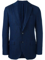 Massimo Piombo Mp Striped Classic Blazer Blue