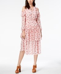 Maison Jules Cold Shoulder Flounce Dress Created For Macy's Pink Lily