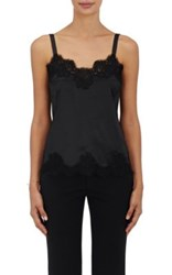 Dolce And Gabbana Women's Lace Trimmed Silk Blend Cami Black