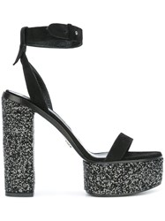 Ermanno Scervino Platform Ankle Strap Sandals Black