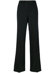 Red Valentino Tailored Wide Legged Trousers Women Polyester Spandex Elastane Acetate Wool 44 Black