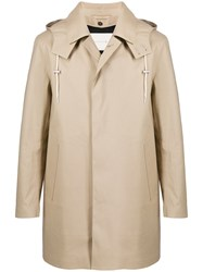 Mackintosh Dunoon Hood Fawn Bonded Cotton Short Hooded Coat Gr 1004D 60