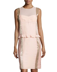 Philosophy Di Alberta Ferretti Sleeveless Silk Cocktail Dress Light Pink
