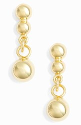 Argentovivo Argento Vivo Small Beaded Drop Earrings Gold
