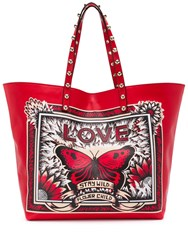 Red Valentino V Wild Child Tote Red