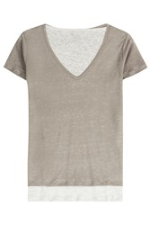 Majestic Layered Linen T Shirt Gr. 2