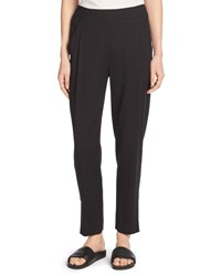 Vince Single Pleat Pull On Track Pants Black