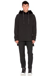 D. Gnak D By D Synthetic Fur Hoodie Black