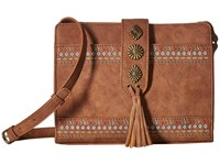American West Del Rio Zip Top Crossbody Medium Brown Cross Body Handbags