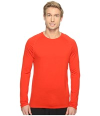 Smartwool Merino 150 Baselayer Long Sleeve Fire Red Men's T Shirt