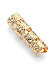 Maison Martin Margiela Knuckle Duster Textured Four Band Ring Set Gold