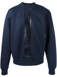 Diesel Black Gold Printed Sweatshirt Blue