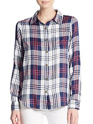 Candc California Noho Plaid Shirt Red Multi