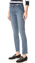 Paige Hoxton Ankle Peg Side Slit Jeans Beachwood