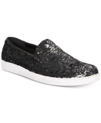 Inc International Concepts I.N.C. Flash Sequin Slip Ons Created For Macy's Shoes Silver