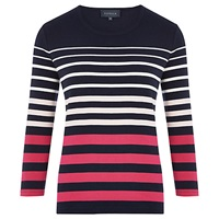 Viyella Graduated Stripe Jersey Top Multi