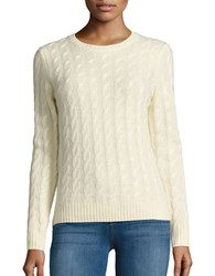 Lord And Taylor Cable Knit Cashmere Sweater Sunbeam