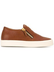 Giuseppe Zanotti Design 'Adam' Slip On Sneakers Brown